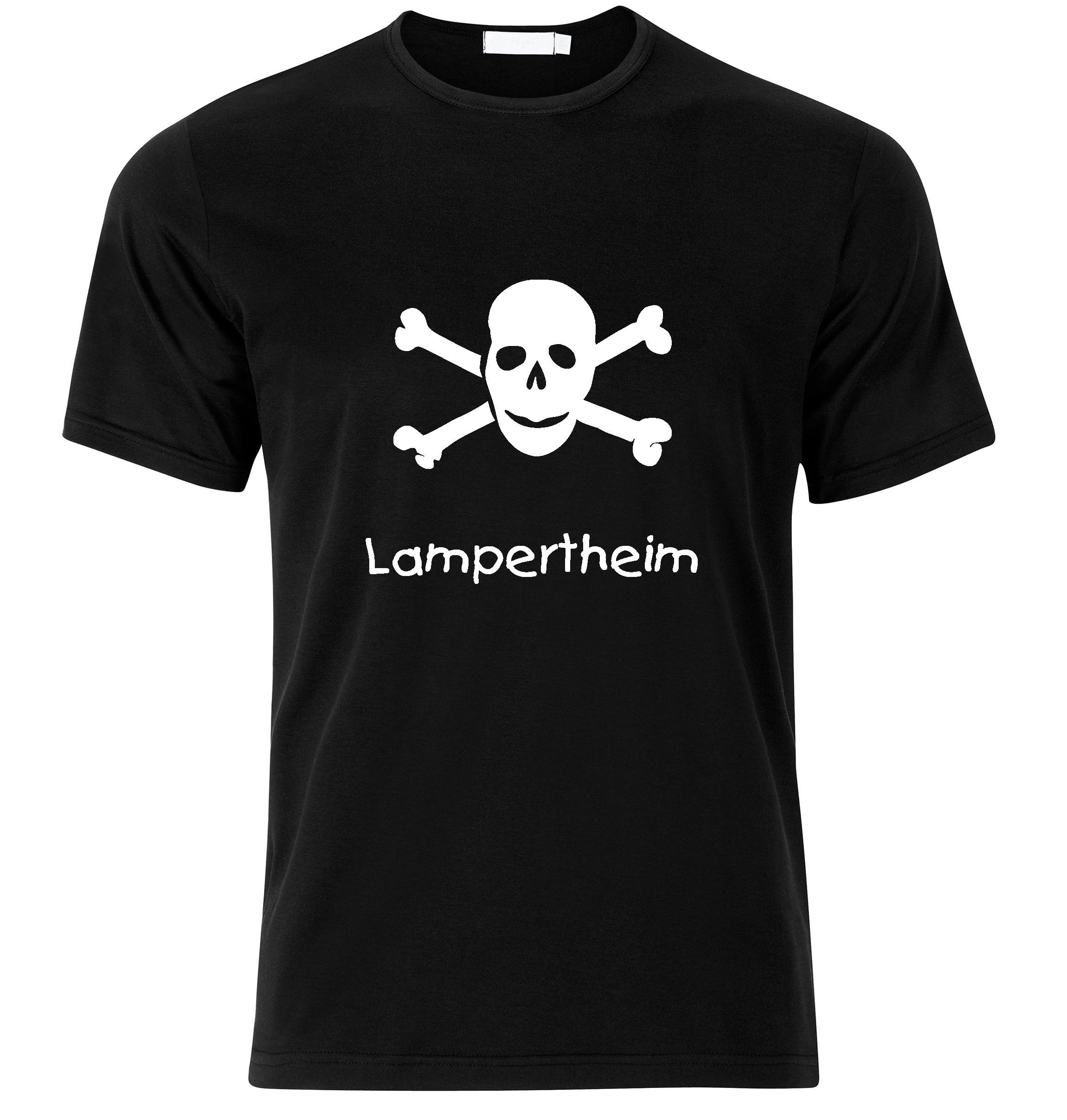 T-Shirt Lampertheim Jolly Roger, Totenkopf